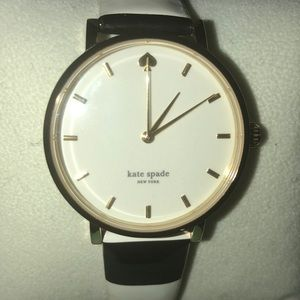 Kate Spade watch with black & white leather band
